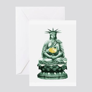 Liberty Buddha Greeting Card