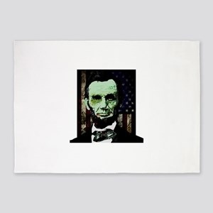 Abraham Lincoln - Zombie 5'x7'Area Rug