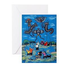 Flying Kites Greeting Cards (Pk of 20)