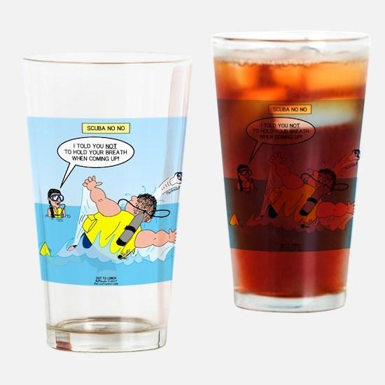 SCUBA No No Drinking Glass