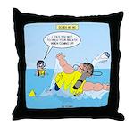 SCUBA No No Throw Pillow