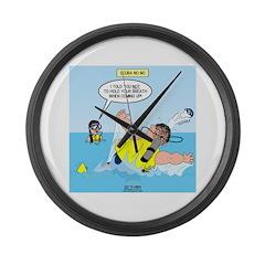 SCUBA No No Large Wall Clock