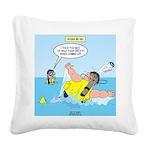 SCUBA No No Square Canvas Pillow