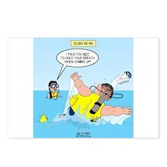 SCUBA No No Postcards (Package of 8)