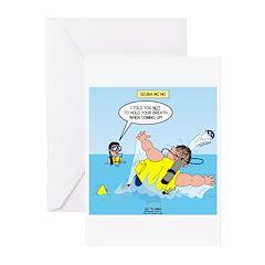SCUBA No No Greeting Cards (Pk of 10)