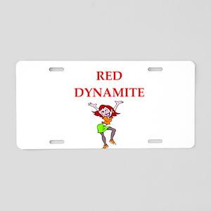 dynamite Aluminum License Plate