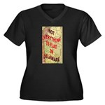 Flat Delaware Women's Plus Size V-Neck Dark T-Shir