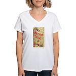 Flat Delaware Women's V-Neck T-Shirt