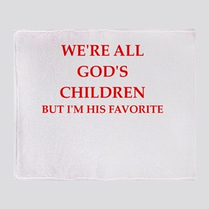 god Throw Blanket