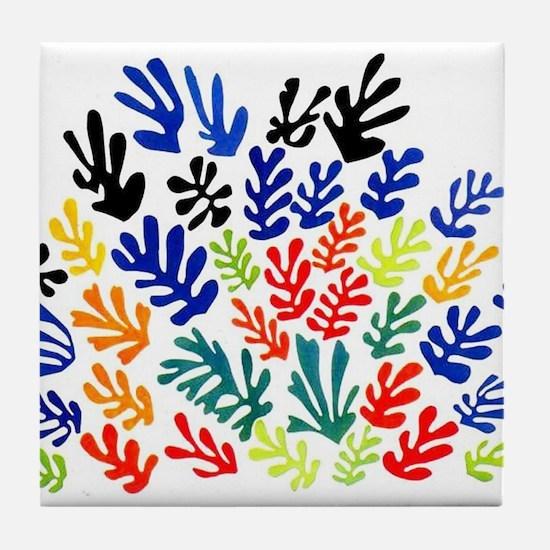 MATISSE LEAVES Tile Coaster