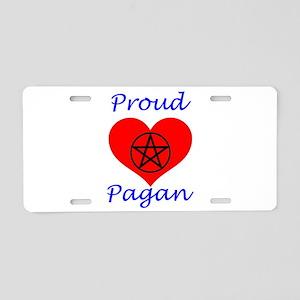 Proud Pagan Heart Aluminum License Plate