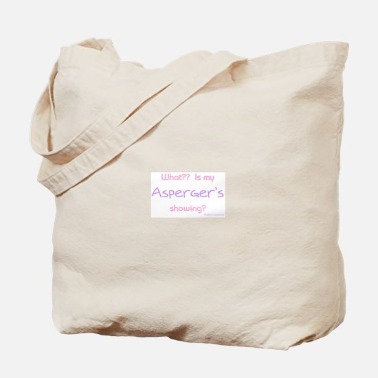 Asperger's Showing pink Tote Bag