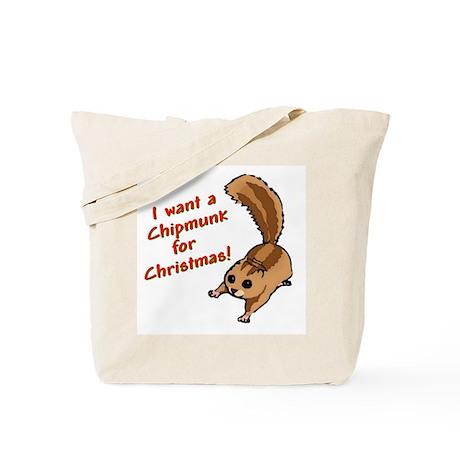 Christmas Chipmunk Tote Bag