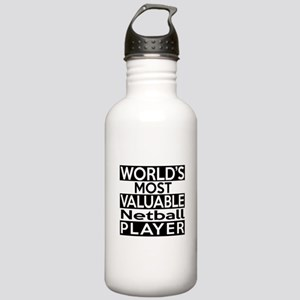 Most Valuable Netball Stainless Water Bottle 1.0L