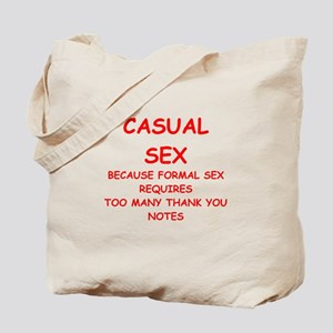 casual sex Tote Bag
