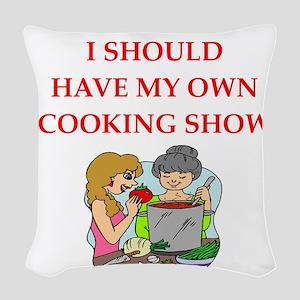 cook Woven Throw Pillow
