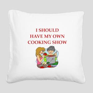 cook Square Canvas Pillow
