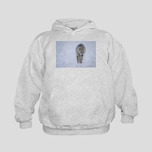 Arctic wolf walking in the snow Sweatshirt
