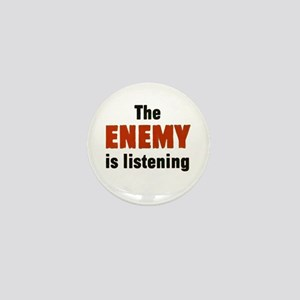 The Enemy Is Listening Mini Button