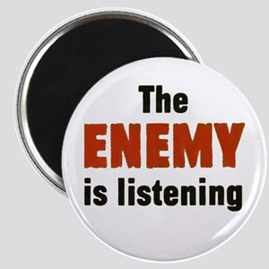 The Enemy Is Listening Magnet