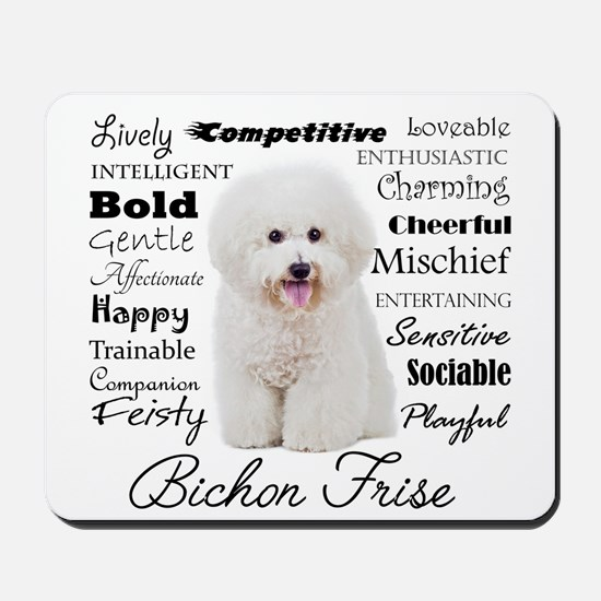 Bichon Traits Mousepad