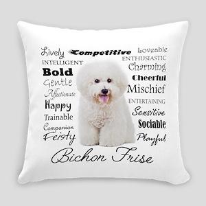 Bichon Traits Everyday Pillow