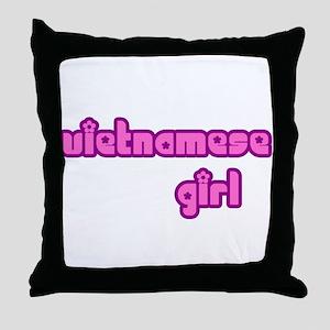 Vietnames Girl Cute Throw Pillow