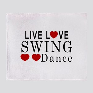 Live Love Swing Dance Designs Throw Blanket