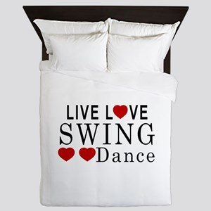 Live Love Swing Dance Designs Queen Duvet