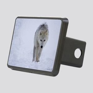 Arctic wolf walking in the Rectangular Hitch Cover