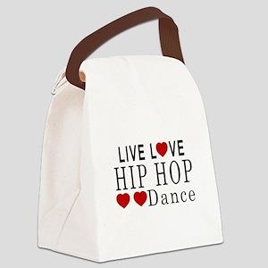 Live Love Hip Hop Dance Designs Canvas Lunch Bag