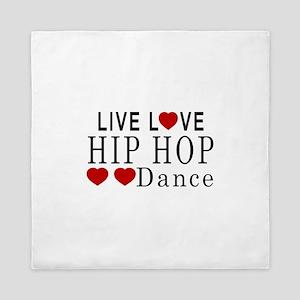 Live Love Hip Hop Dance Designs Queen Duvet