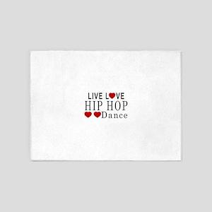 Live Love Hip Hop Dance Designs 5'x7'Area Rug