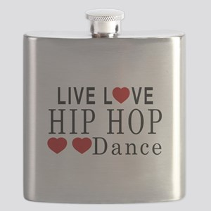 Live Love Hip Hop Dance Designs Flask