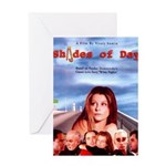 Shades of Day - poster Greeting Cards