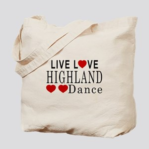 Live Love Highland Dance Designs Tote Bag