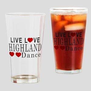 Live Love Highland Dance Designs Drinking Glass