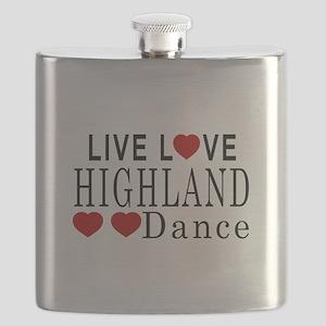 Live Love Highland Dance Designs Flask