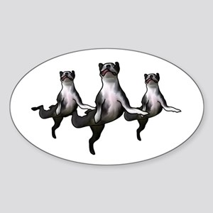 Dancing boston terriers a choirs line Sticker