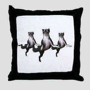 Dancing boston terriers a choirs line Throw Pillow
