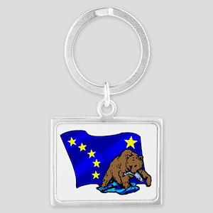 Alaskan Bear Flag Keychains