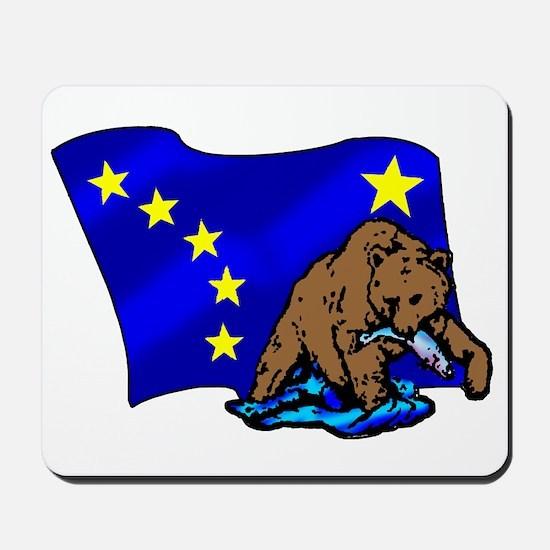 Alaskan Bear Flag Mousepad