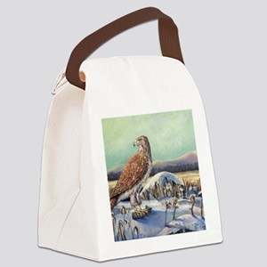 Redtail Winter Canvas Lunch Bag