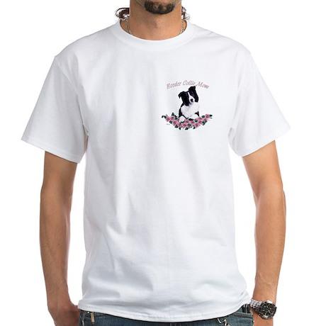 on pocket White T-Shirt