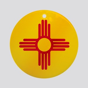 Flag of New Mexico Round Ornament