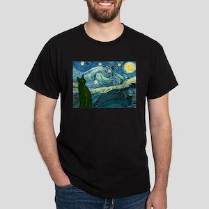 """Van Gogh's Cats"" Blue Tee T-Shirt"