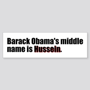Barack Obama's Middle Name Bumper Sticker