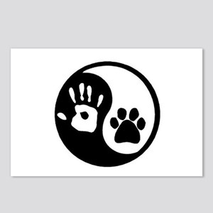 Ying Yang Paw Hand Pet Lo Postcards (Package of 8)