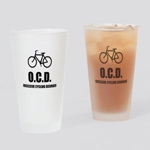 Obsessive Cycling Disorder Drinking Glass