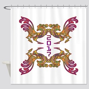 2017 Year of The Rooster Shower Curtain